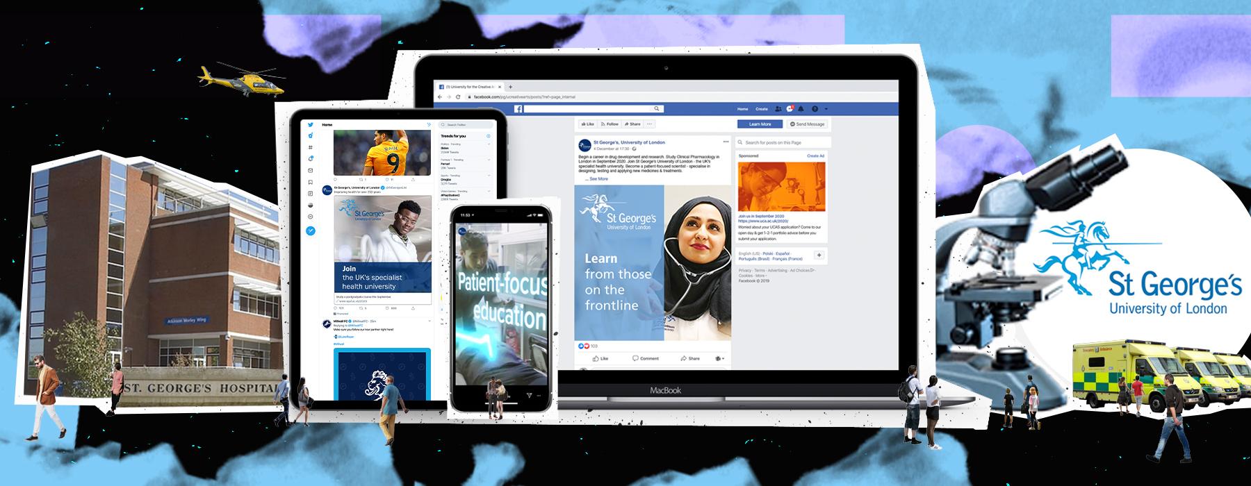 SGUL header desktop