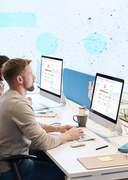 Analytics services header mobile