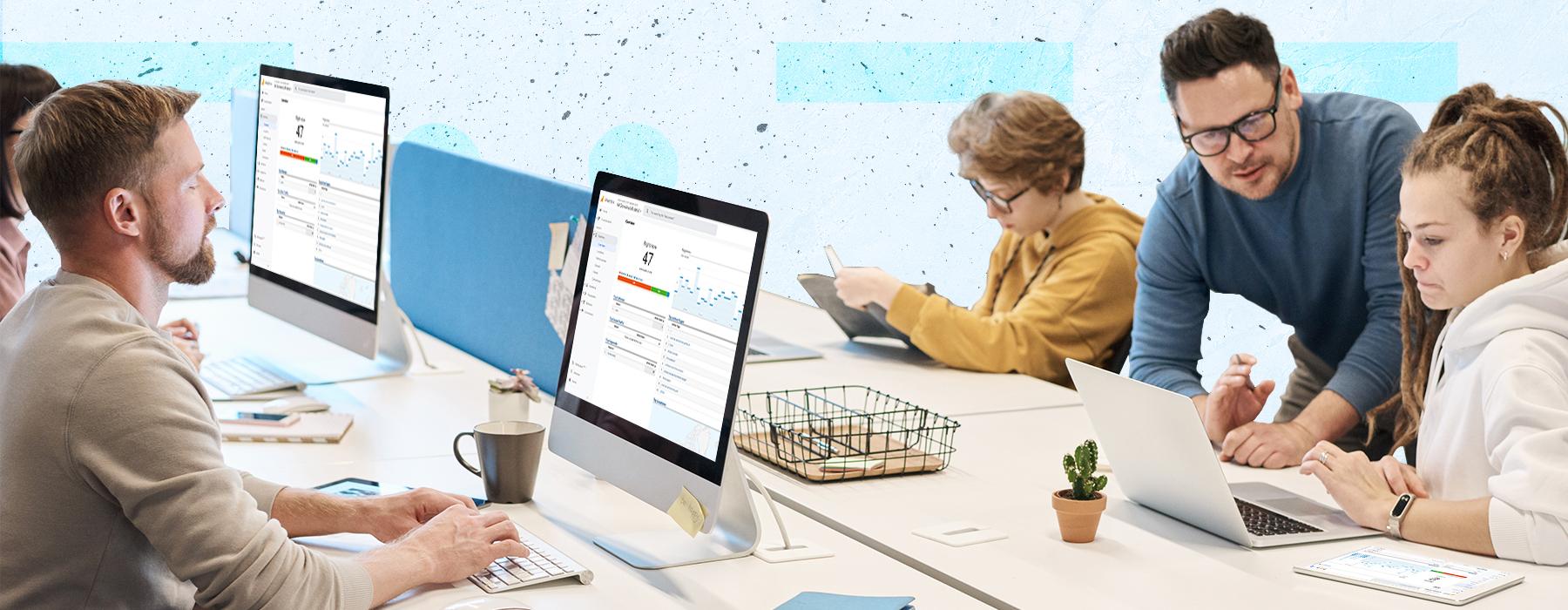 Analytics services header desktop